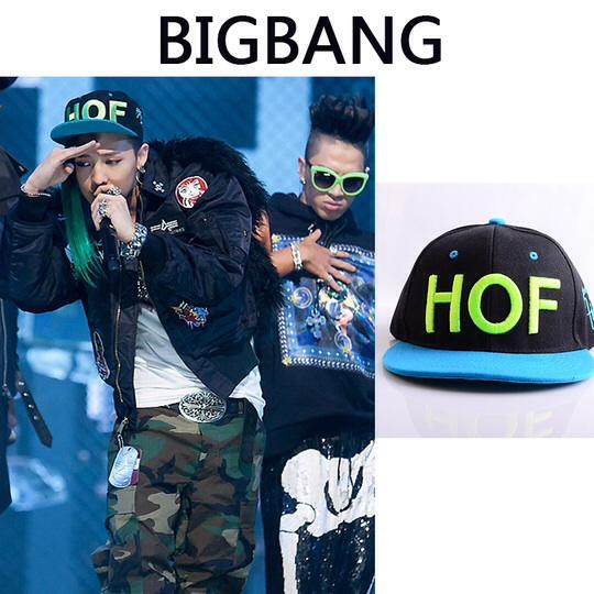 หมวกแฟชั่น bigbang GD G-DRAGON HOF