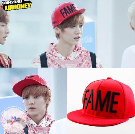 หมวกแฟชั่น EXO-Canlie FAME LUHAN (สีแดง)