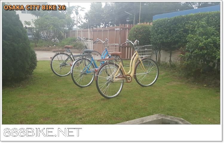 จักรยานแม่บ้านล้อ 26 นิ้ว OSAKA พร้อมตะกร้าญี่ปุ่นและเบาะท้ายรองนั่ง