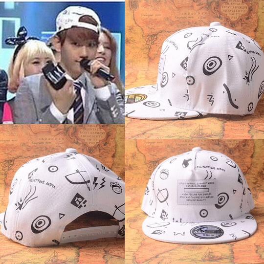 หมวกแฟชั่น EXO BAEKHYUN. สีขาว