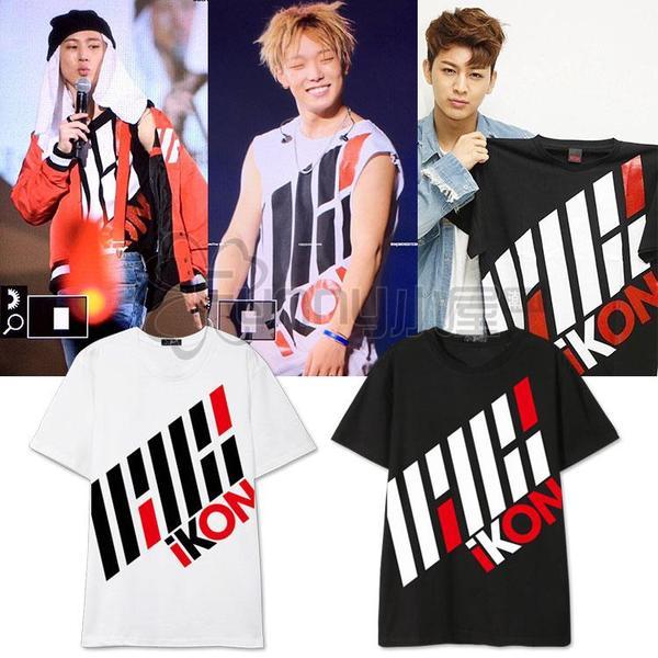เสื้อแฟชั่นนักร้องเกาหลี เสื้อยืดแฟชั่น iKONCERT (ระบุไซส์ สี)