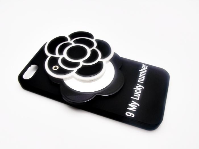 เคสดอกไม้ 3D ซ่อนกระจก ไอโฟน 7 plus (5.5 นิ้ว)