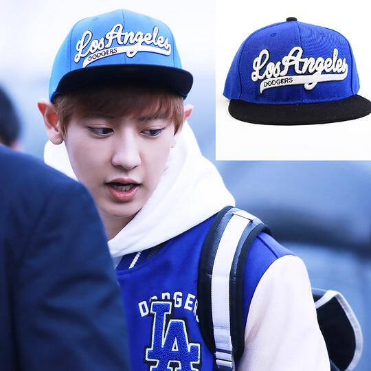 หมวกแฟชั่น exo bllank 5 space losangeles(สีน้ำเงิน)