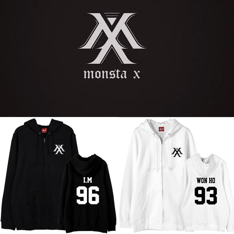 เสื้อฮู้ดซิปหน้า (Hoodie) MONSTA X (ชื่อเมมเบอร์)