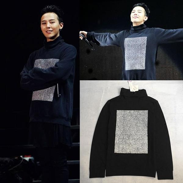 เสื้อแฟชั่นนักร้องเกาหลี เสื้อแขนยาวกันหนาว Bigbang GD สีดำ