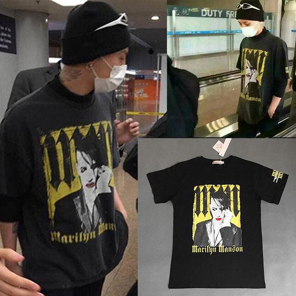 เสื้อแฟชั่นนักร้องเกาหลี เสื้อยืดแฟชั่น Bigbang GD สีดำ