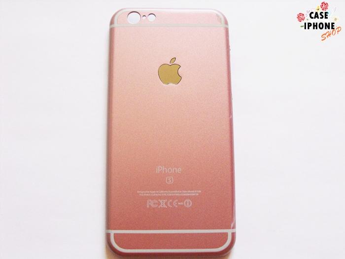 เคสฝาหลังโลโก้ Apple ไอโฟน 6/6s 4.7 นิ้ว สีชมพู