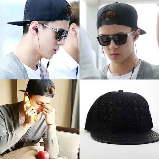 หมวกแฟชั่น EXO SEHUN ดาวสีดำ