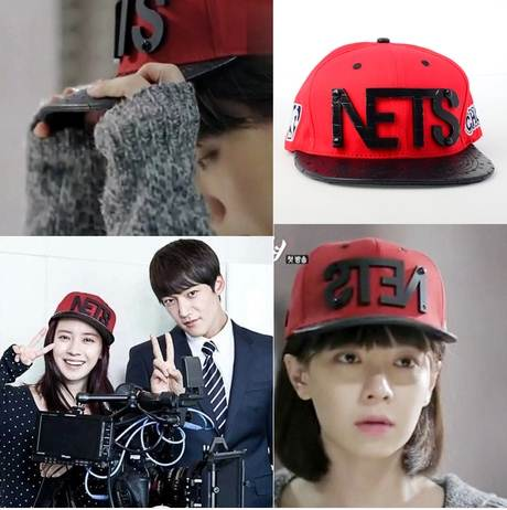 หมวกแฟชั่น Runningman NETS สีแดง