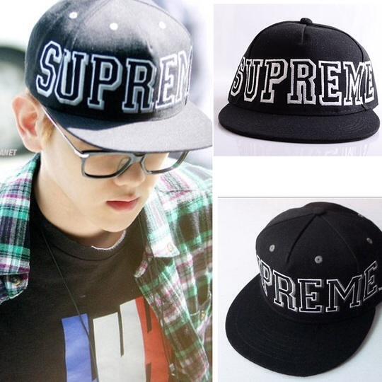 หมวกแฟชั่น EXO Supreme สีดำ