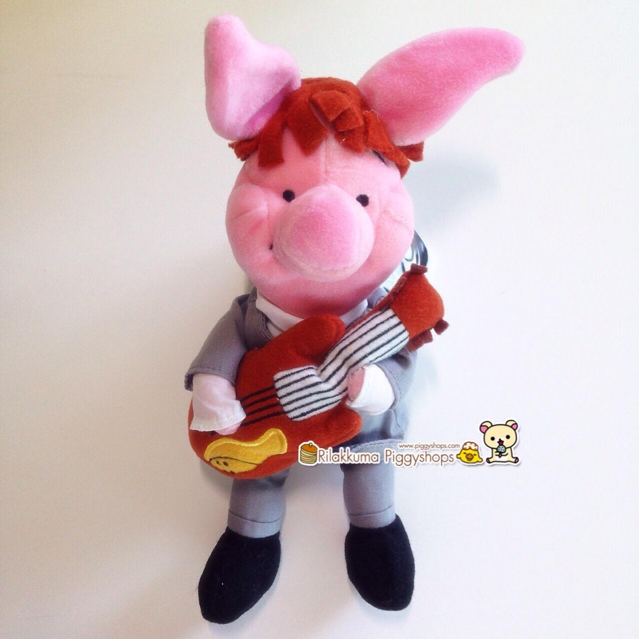 ตุ๊กตาพิกเล็ตเพื่อนหมีพูห์ ยืนดีดกีต้าร์ Piglet play guitar of Winnie the pooh