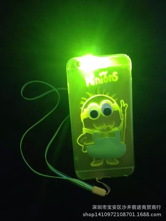 เคสไฟกระพริบตั้งได้ไอโฟน 4/4s -ลายมินเนี่ยน