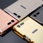 เคส Sony XZ Premium รุ่นเคสอลูมิเนียมหุ้มขอบข้าง+ฝาหลังเงา