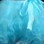พร้อมเช่า ชุดแฟนซี ชุดราตรีสั้น แขนกุด กระโปรงผ้าแก้วย้วยพองฟู น่ารักมาก แต่งดอกไม้ช่วงอก สีฟ้า thumbnail 9