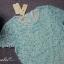 พร้อมส่ง ชุดเดรสลูกไม้ (สั้น) สีฟ้า ลูกไม้ลายดอก Daisy ปักมุกเพิ่มความหวาน (เหลือเฉพาะไซส์ S ) thumbnail 3