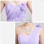 พร้อมส่ง ชุดราตรียาว ชุดเพื่อนเจ้าสาว สีม่วงอ่อน Lavender Lv-002D thumbnail 5