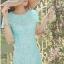 พร้อมส่ง ชุดเดรสลูกไม้ (สั้น) สีฟ้า ลูกไม้ลายดอก Daisy ปักมุกเพิ่มความหวาน (เหลือเฉพาะไซส์ S ) thumbnail 1