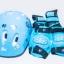 รองเท้าสเก็ต rollerblade รุ่น MPB-Kids สีฟ้า พร้อมเซทสุดคุ้ม Size S 28-31 thumbnail 6