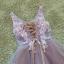 พร้อมเช่า ชุดแฟนซีสั้น แบบแขนกุด เนื้อผ้าเป็นตาข่ายแบบซีทรู แต่งดอกและลูกปัด สีม่วง (เชือกผูกหลัง) thumbnail 16