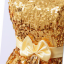พร้อมเช่า ชุดราตรีสั้น เกาะอก สีทอง Glitter กระโปรงทรง Balloon thumbnail 4