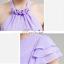 พร้อมส่ง ชุดราตรียาว ชุดเพื่อนเจ้าสาว สีม่วงอ่อน Lavender Lv-002D thumbnail 6