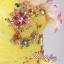 พร้อมเช่า ชุดแฟนซี เช่า 500 ชุดราตรีสั้น แบบเกาะอก กระโปรงสุ่ม ผ้าโปร่ง ปักลูกปัดและดอกไม้ สีเหลือง thumbnail 5