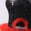 พร้อมเช่า ชุดแฟนซี เช่า 500 ชุดราตรีสั้น เกาะอกแต่งคริสตัล สีดำ กระโปรงระบายสวยสีแดง thumbnail 6