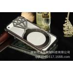 เคสไอโฟน 5/5s Shengo ลายเพชร ฝาประกบแหวนเพชร-สีดำ