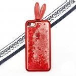 เคสตู้กากเพชรหูกระต่าย ไอโฟน 74.7 นิ้ว(ใช้ภาพรุ่นอื่นแทน)สีแดง