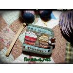 กระเป๋าเงินใบสั้น สองพับ ผ้าคอตตอนลินินญี่ปุ่น - สินค้าสั่งทำ