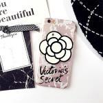 เคส tpu ดอกไม้ซ่อนกระจก ไอโฟน 7 plus 5.5 นิ้ว-สีขาว