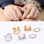 ชุดแหวนประดับสไตล์เกาหลี : ชุดทอง