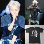เสื้อแฟชั่นนักร้องเกาหลี เสื้อยืดแฟชั่น Bigbang GD MADE สีดำ XXL