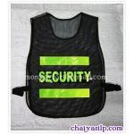 เสื้อสะท้อนแสง SECURITY สีดำ