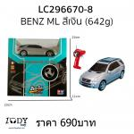 รถบังคับ Benz ML สีเงิน 1:28