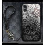 ไอโฟน 5/5se/5sเคสลายลูกไม้มีสายคล้องข้อมือ(ใช้ภาพรุ่นอื่นแทน)-สีดำ