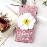 เคส tpu ดอกไม้ซ่อนกระจก ไอโฟน 7 plus 5.5 นิ้ว-สีชมพู