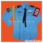 ชุดรปภ. เสื้อเชิ้ตสีฟ้า แขนยาว / กางเกงสีกรม