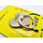 แหวนติดมือถือกากเพชร-หัวใจทอง