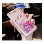 เคสตู้กากเพชรขวดน้ำหอมไฟกระพริบ ไอโฟน 7 4.7 นิ้ว(ใช้ภาพรุ่นอื่นแทน)-ชมพู