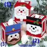 ชุดปักแผ่นเฟรมกล่องทิชชูลายซานต้าแบบ 1