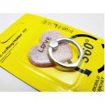 แหวนติดมือถือกากเพชร-หัวใจ pink gold