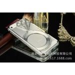 เคสไอโฟน 5/5s Shengo ลายเพชร ฝาประกบแหวนเพชร-สีเงิน