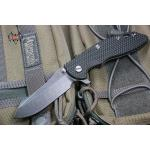 "RHK XM18 3.5"" Skinner Battle Black Blade Green/Black G-10"