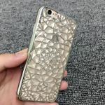เคสลายดอกไม้ 3D ติดเพชร ไอโฟน 6/6s 4.7 นิ้ว-เงิน