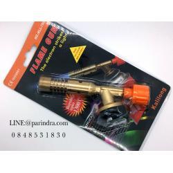 หัวไฟแช็คแก๊สความร้อนสูงหัวทองเหลือง FLAME GUN No.KLL-7003