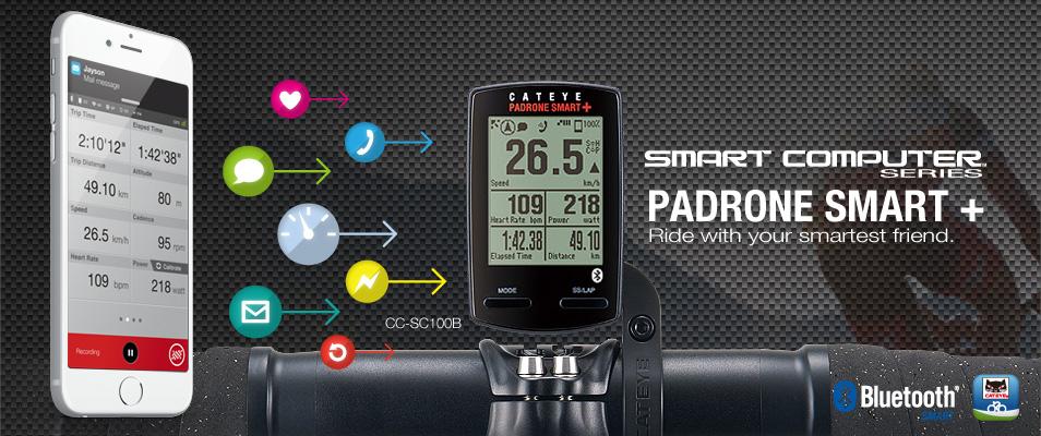 CATEYE ไมล์ไร้สาย PADRONE SMART+, มี GPS, CC-SC100B, ขายเฉพาะตัวเรือนไมล์