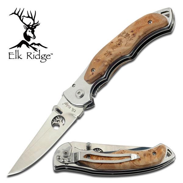 มีดพับ Elk Ridge #ER-519 MIRROR BLADE ของแท้