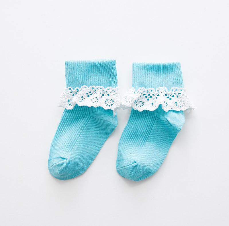 ถุงเท้าสั้น สีฟ้า แพ็ค 10 คู่ ไซส์ ประมาณ 7-10 ปี