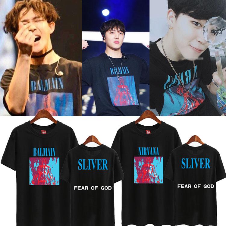 เสื้อยืด (T-Shirt) SLIVER แบบ BTS+WINNER